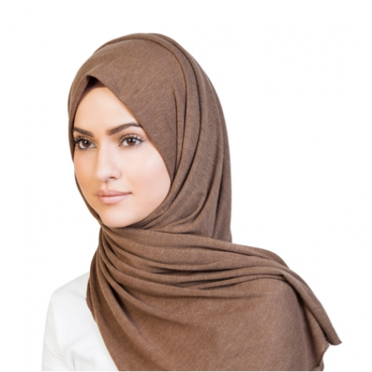 BROWN KNITTED HIJAB